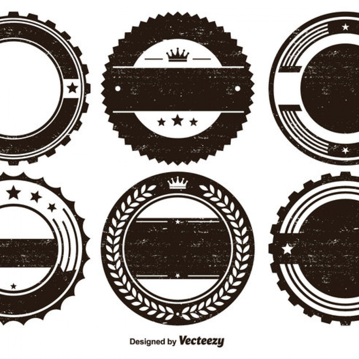 free vector distressed badge shape set 21111 my graphic hunt