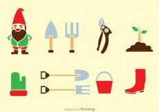 Free vector Gardening Tools Icons #26608