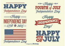Free vector Independence Day Labels #27180
