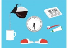 Free vector Vector Morning Accessories #27350