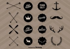 Free vector Quality Hipster Graphics #26638