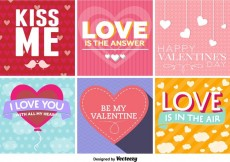 Free vector Typographic Love Signs #27328