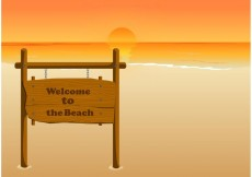 Free vector Welcome to the beach #23819