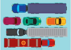 Free vector Vehicles Arial View Vector #21363