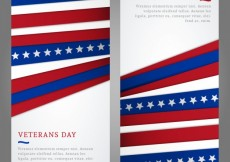 Free vector Veterans Day Flyers Pack #26104
