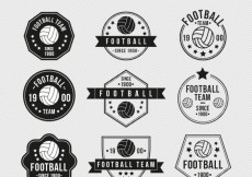 Free vector Vintage football badges #26447