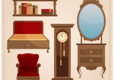 Free vector Vintage furniture collection #26864