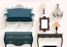 Free vector Vintage furniture pack #28078