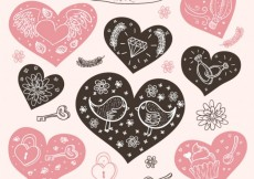 Free vector Vintage love elements #24816