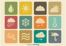 Free vector Vintage Weather Icons #22749