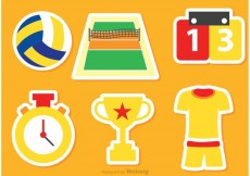 Free vector Volleyball Icons Vectors #21631