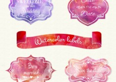 Free vector Watercolor labels #20345