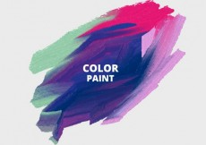 Free vector Watercolor paint smudge #25899