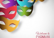 Free vector Welcome to carnival with colorful masks #21742