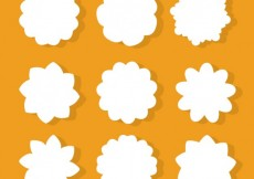 Free vector White flowers shapes #21942