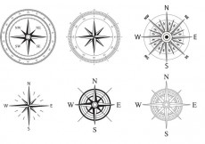 Free vector Wind and Nautical Compass Rose Vectors #27226