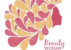 Free vector Woman with abstract hair #21750