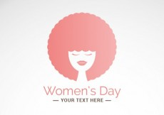 Free vector Women's day card with afro hair woman #21952