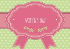 Free vector Women's Day cute greeting card  #22459