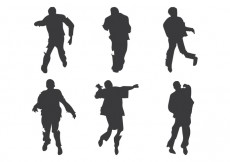 Free vector Zombie Silhouette Vector #25760