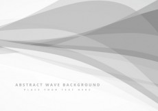 Free vector Abstract background with grey waves #30166