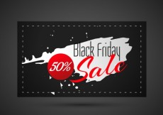 Free vector abstract black friday sale card #30793