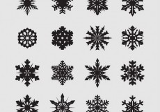 Free vector Abstract black snowflakes #29353
