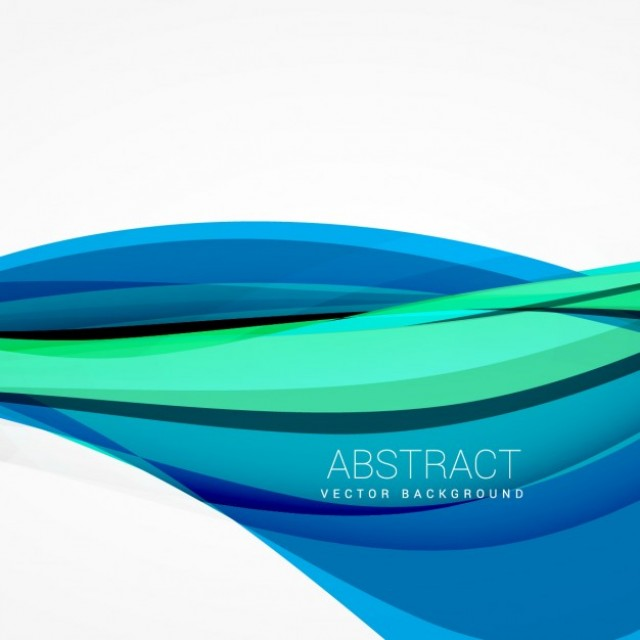 Free vector Abstract blue wave background design illustration #34625
