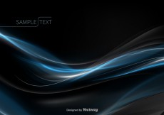 Free vector Abstract blue wave vector #29250