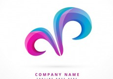 Free vector Abstract logo with swirls  #31841