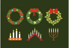 Free vector Advent wreath collection #32541