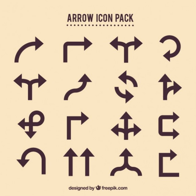 Free vector Arrow icons pack #28795