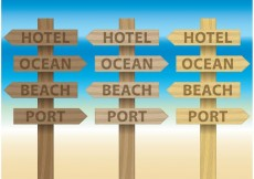 Free vector Billboards For Beach Signs #32147