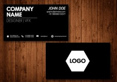 Free vector Black Business Card Vector Template #28684