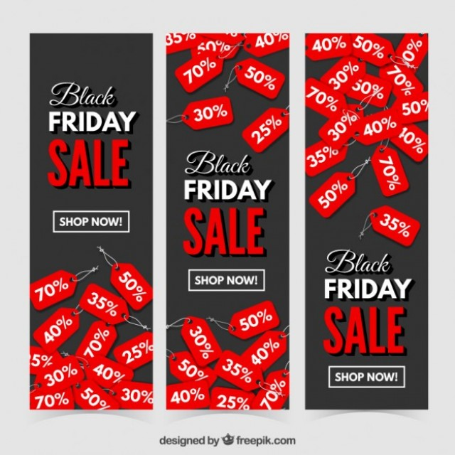 Free vector black friday discount banners #33350