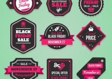 Free vector Black friday labels collection #33296