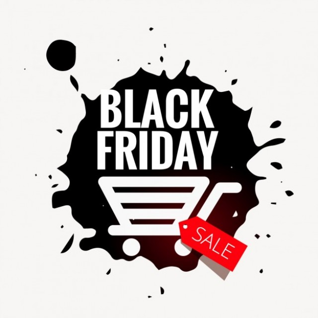 Free vector black friday sale badge in grunge style #31866