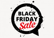 Free vector black friday sale design in chat bubble #32677