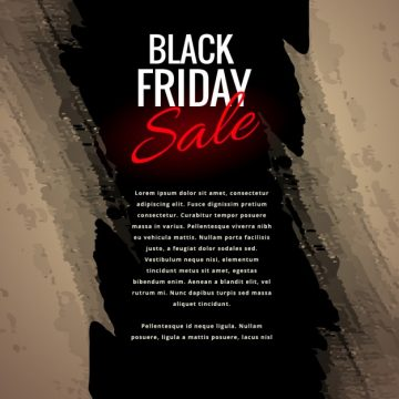 Free vector black friday sale poster in grunge style #31868