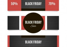 Free vector Black friday sales banners #30038