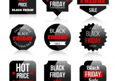 Free vector Black Friday Stickers Set #33741