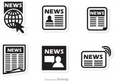 Free vector Black Icons News Vector #30189
