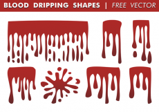 Free vector Blood Dripping Shapes Free Vector #31832