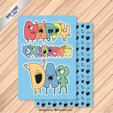 Free vector Blue Children Day Card #28805