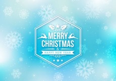 Free vector Blue christmas background in abstract style #32182