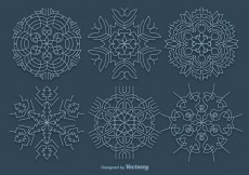 Free vector Blue snowflakes #29354