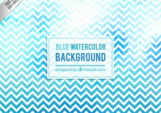 Free vector Blue watercolor zigzag background #29666