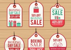 Free vector Boxing day sales labels #32679