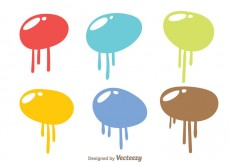 Free vector Bubble Paint Drip Vectors #31597