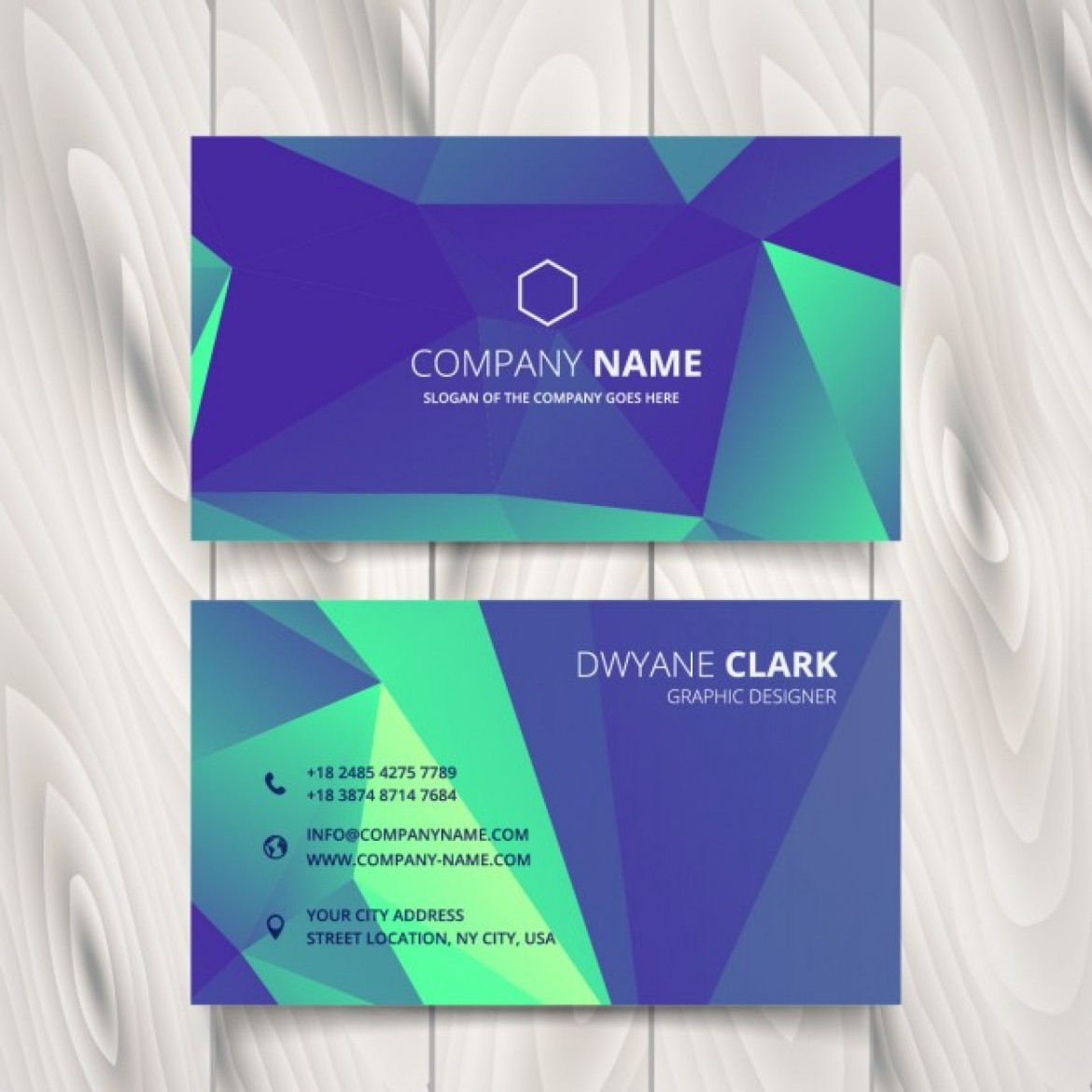 Free vector Business card in low poly style #34247